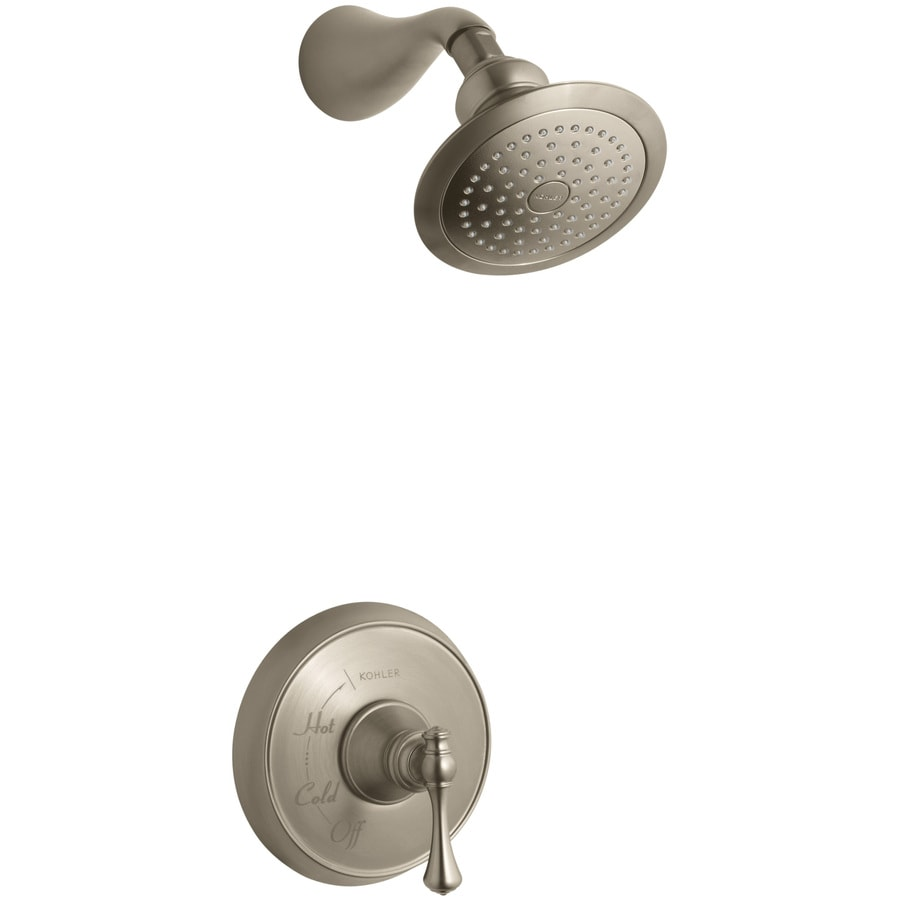 KOHLER Revival Vibrant Brushed Bronze 1-Handle Shower Faucet Trim Kit with Single Function Showerhead