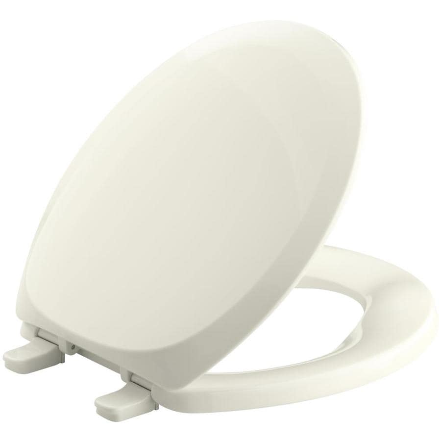 KOHLER French Curve Biscuit Plastic Round Toilet Seat