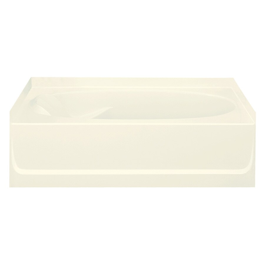 Sterling Ensemble Biscuit Vikrell Oval In Rectangle Skirted Bathtub with Right-Hand Drain (Common: 36-in x 60-in; Actual: 16-in x 36-in x 60.25-in)