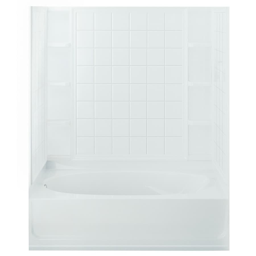 Sterling Ensemble Vikrell Bathtub Wall Surround (Common: 36-in x 60-in; Actual: 54.25-in x 37.5-in x 60-in)