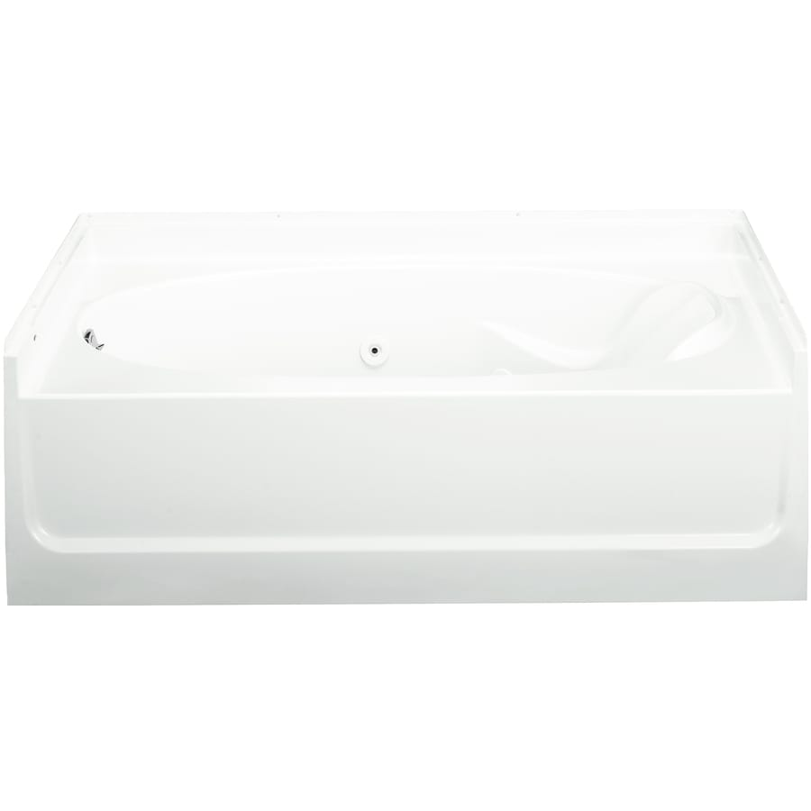 Sterling Ensemble White Vikrell Oval In Rectangle Whirlpool Tub (Common: 36-in x 60-in; Actual: 16-in x 36-in x 60-in)