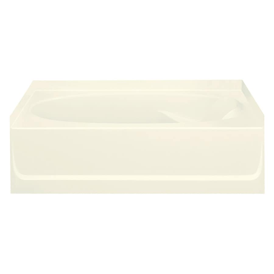 Sterling Ensemble 60.25-in Biscuit Vikrell Skirted Bathtub with Left-Hand Drain