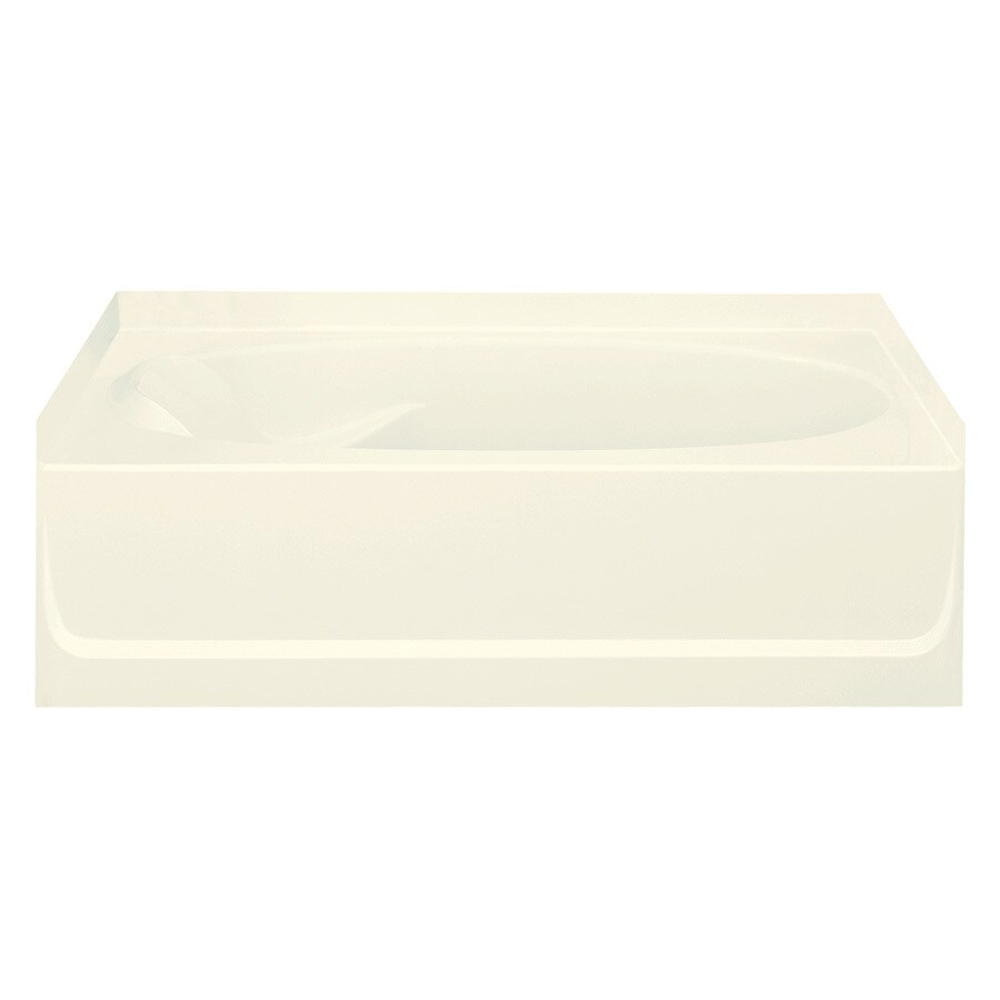 Sterling Ensemble Biscuit Vikrell Oval In Rectangle Skirted Bathtub with Right-Hand Drain (Common: 42-in x 60-in; Actual: 16-in x 42-in x 60.25-in)