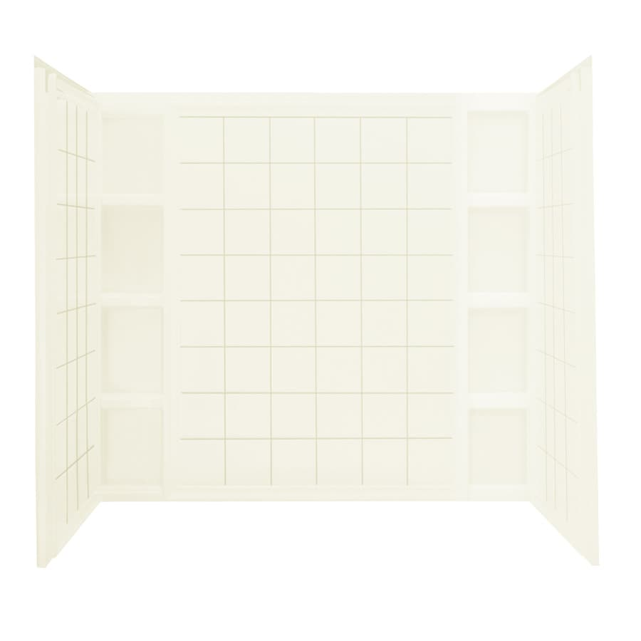 Sterling Shower Wall Surround Corner Wall Panel (Common: 43-in x 1.625-in; Actual: 54.25-in x 43-in x 1.625-in)