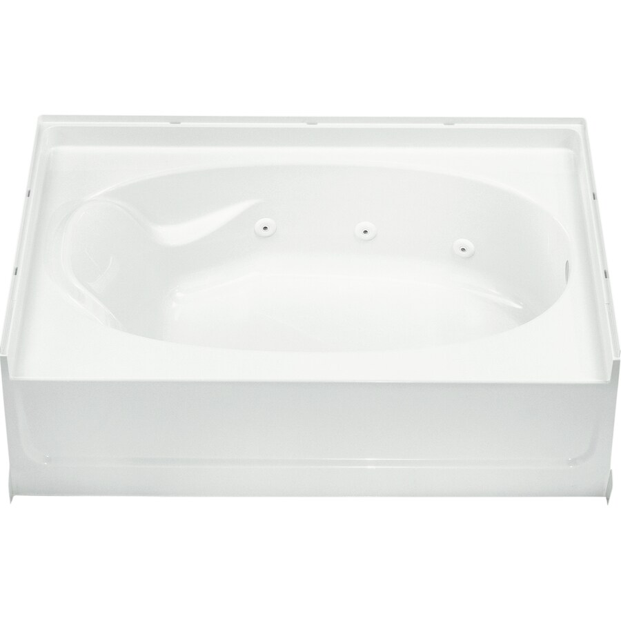 Sterling Ensemble White Vikrell Oval In Rectangle Whirlpool Tub (Common: 42-in x 60-in; Actual: 20-in x 42-in x 60-in)