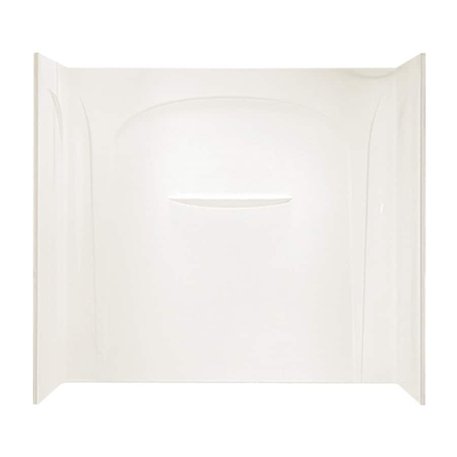 Sterling Acclaim Biscuit Vikrell Bathtub Wall Surround (Common: 60-in x 32-in; Actual: 54.5-in x 60-in x 31.5-in)