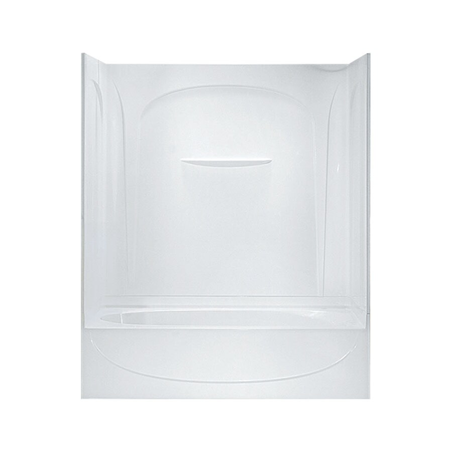 Sterling Acclaim White Vikrell Oval In Rectangle Skirted Bathtub with Left-Hand Drain (Common: 30-in x 60-in; Actual: 72-in x 30.5000-in x 60.2500-in)