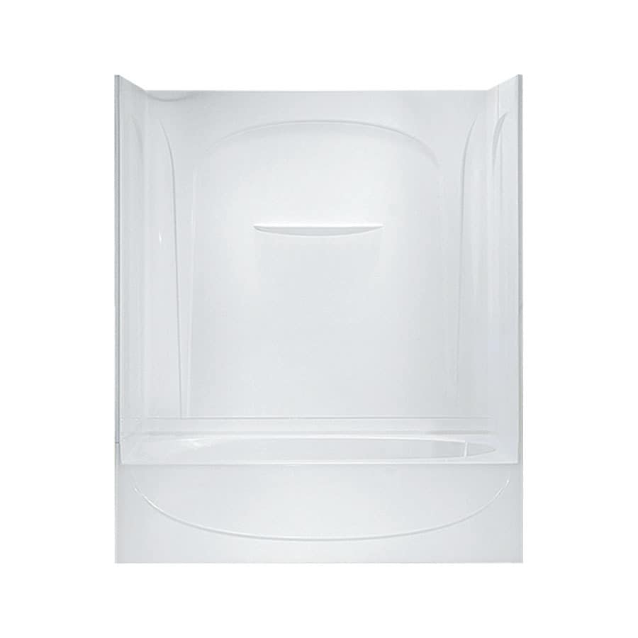 Sterling Acclaim 60.25-in White Vikrell Alcove Bathtub with Right-Hand Drain