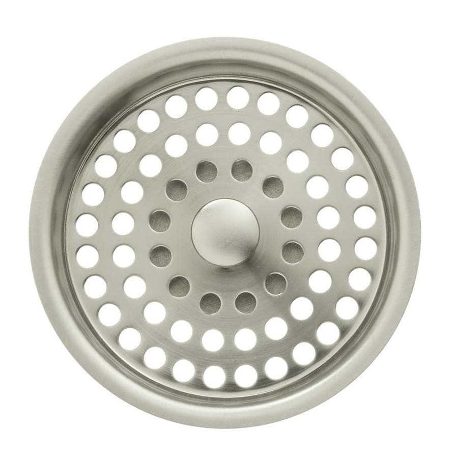 KOHLER Duostrainer 4 In Vibrant Brushed Nickel Plastic Kitchen Sink Strainer  Basket