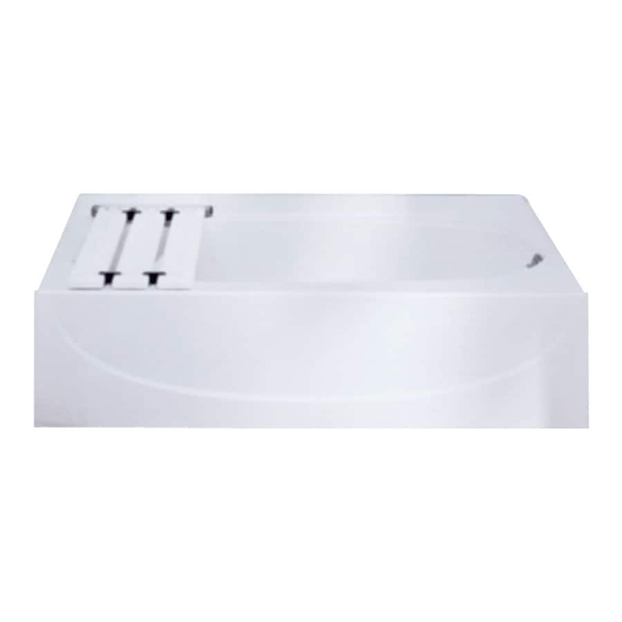 Sterling Acclaim White Fiberglass and Plastic Composite Oval In Rectangle Skirted Bathtub with Right-Hand Drain (Common: 30-in x 60-in; Actual: 15-in x 30.5-in x 60.25-in)