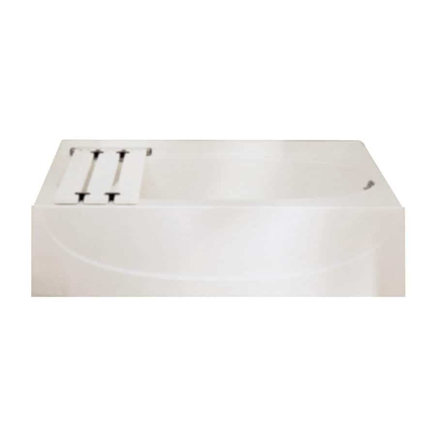 Sterling Acclaim 60.25-in Biscuit Vikrell Alcove Bathtub with Left-Hand Drain