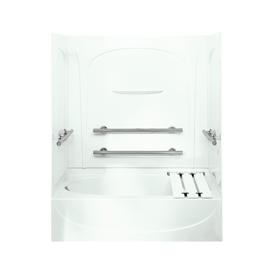 Sterling Acclaim 60.25-in White Vikrell Skirted Bathtub with Left-Hand Drain