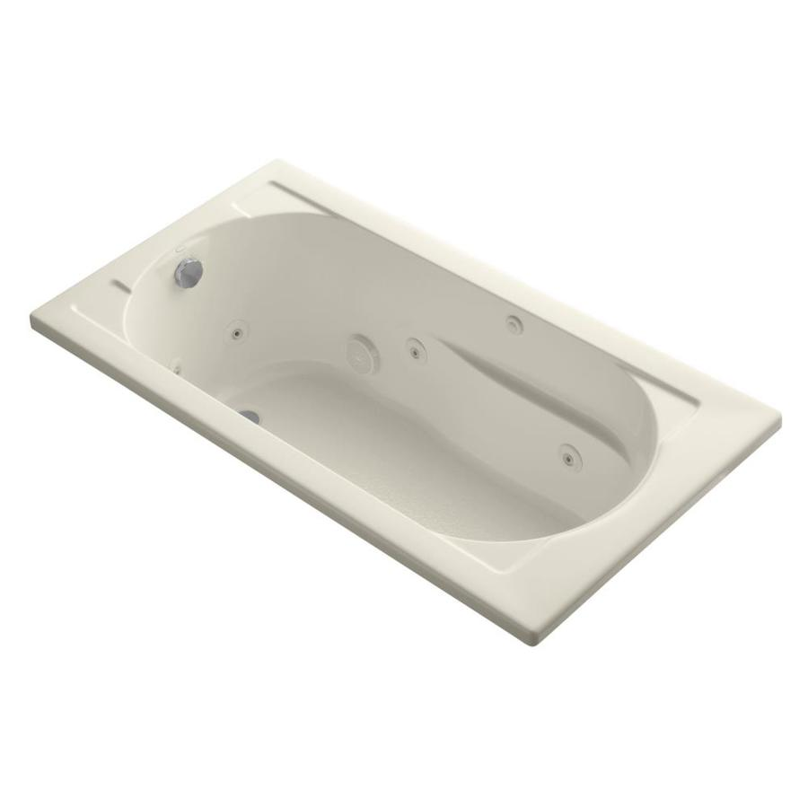 KOHLER Devonshire Almond Acrylic Rectangular Whirlpool Tub (Common: 32-in x 60-in; Actual: 20-in x 32-in x 60-in)