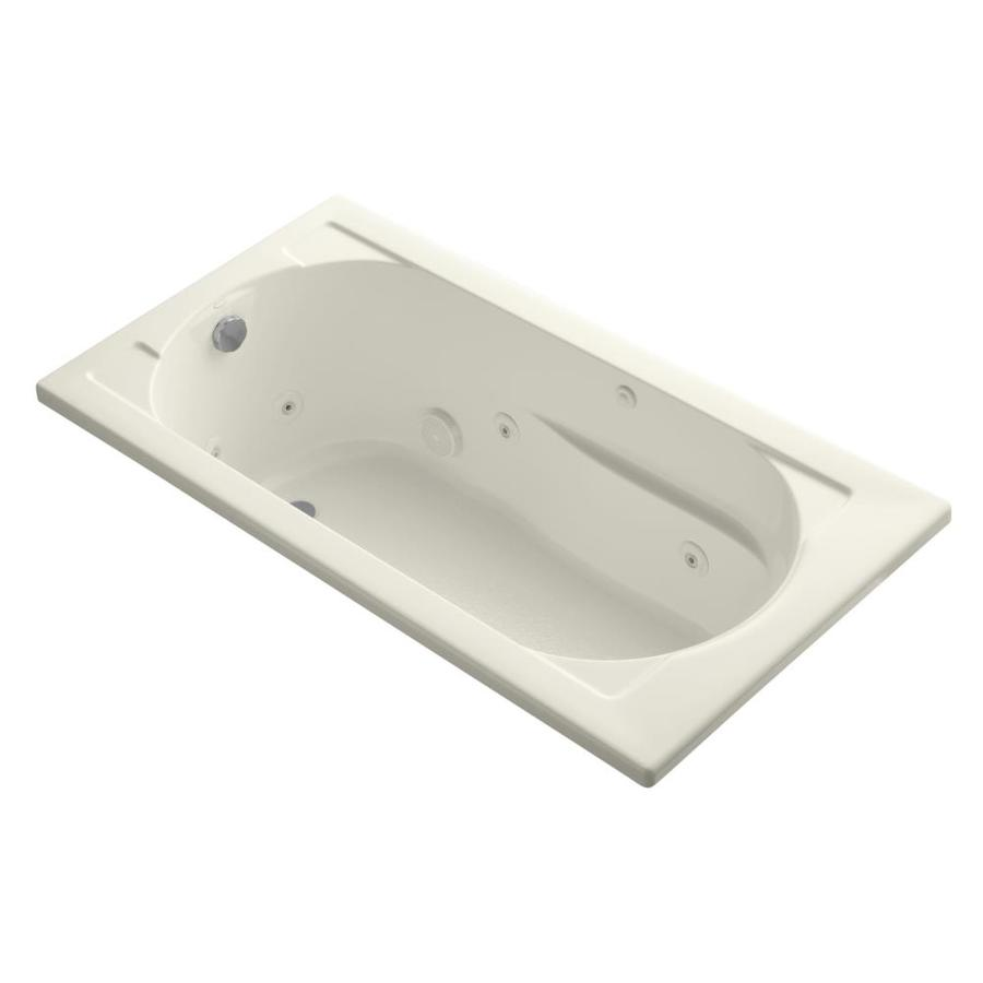 KOHLER Devonshire Biscuit Acrylic Rectangular Whirlpool Tub (Common: 32-in x 60-in; Actual: 20-in x 32-in x 60-in)