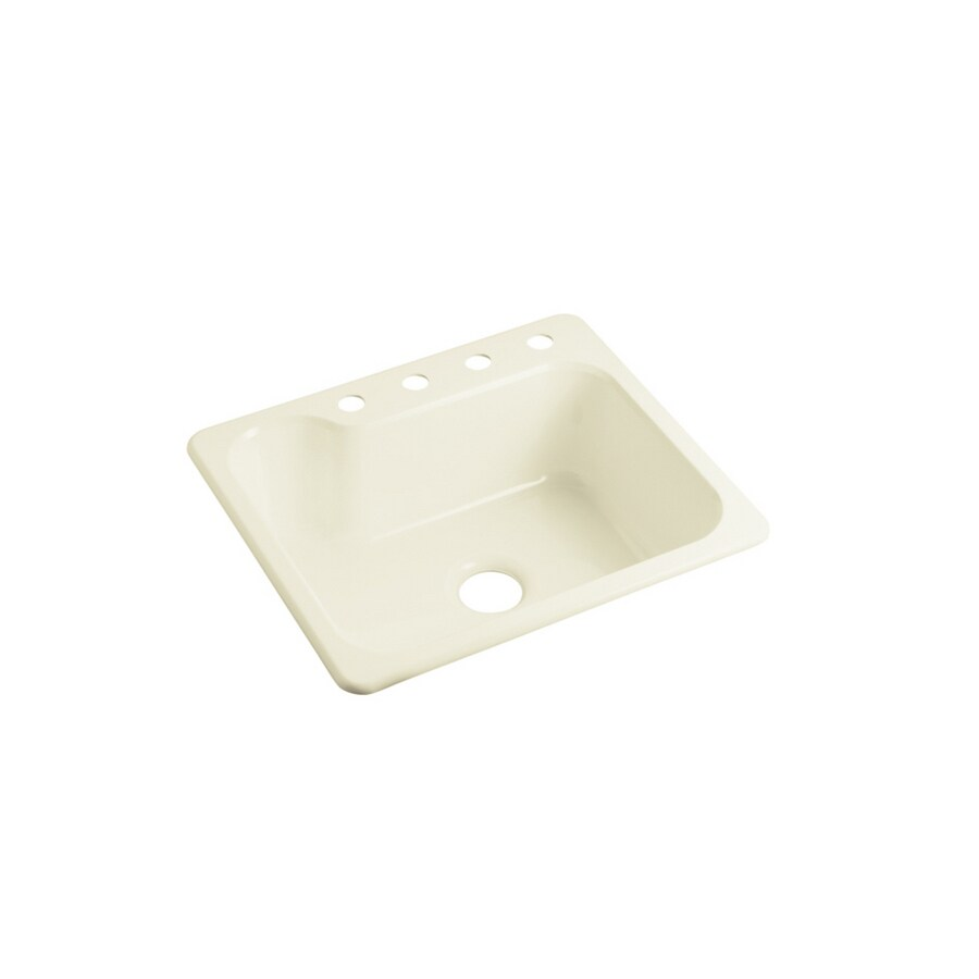 Sterling Kitchen Sink : ... Biscuit Single-Basin Composite Drop-In 4-Hole Residential Kitchen Sink
