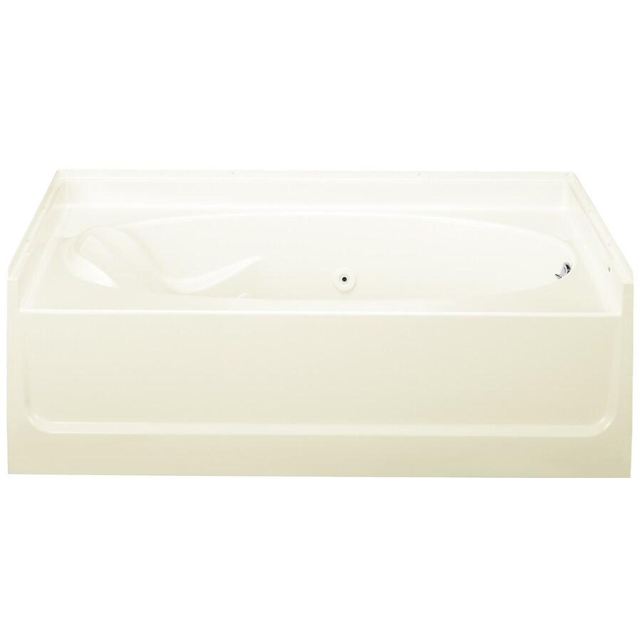 Sterling Ensemble Biscuit Vikrell Oval In Rectangle Whirlpool Tub (Common: 36-in x 60-in; Actual: 16-in x 36-in x 60-in)
