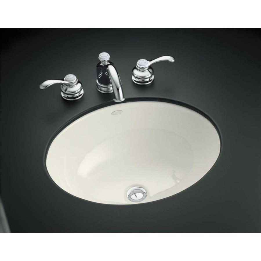 KOHLER Caxton Biscuit Undermount Oval Bathroom Sink
