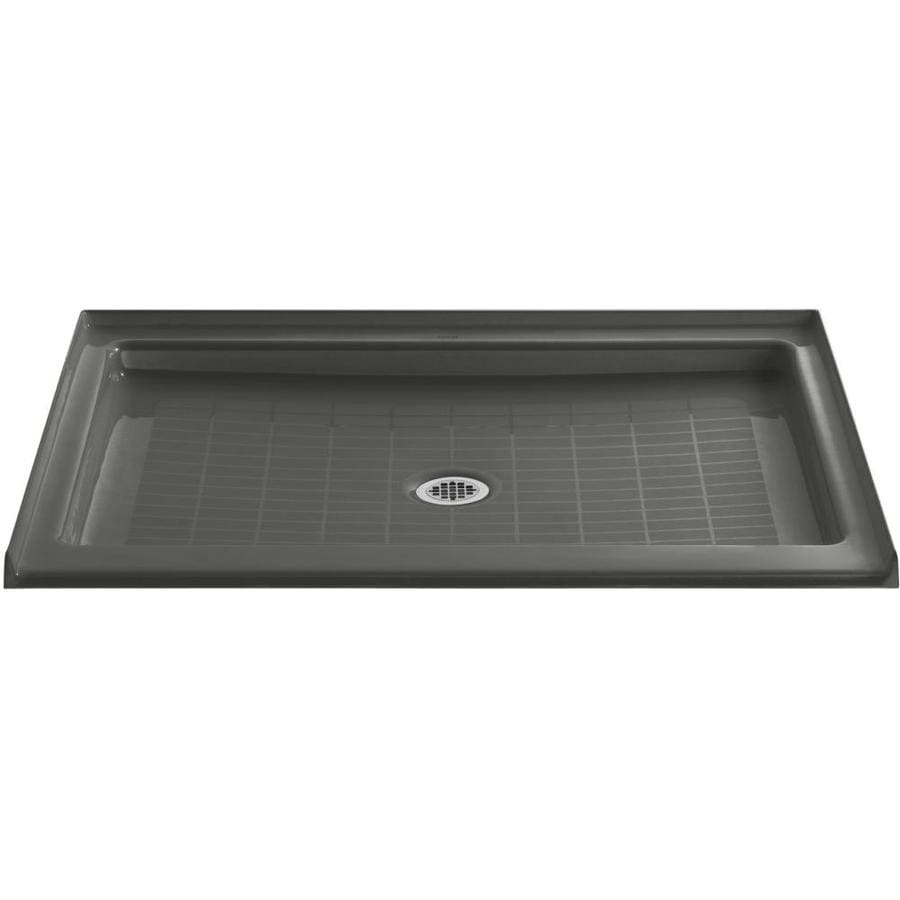KOHLER Purist Thunder Grey Cast Iron Shower Base (Common: 36-in W x 48-in L; Actual: 36-in W x 48-in L)