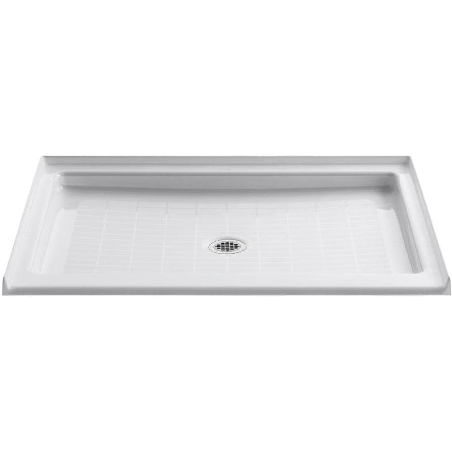 kohler cast iron shower base 36 x 48 Shop KOHLER Purist White Cast Iron Shower Base (Common: 36 in x 48  kohler cast iron shower base 36 x 48