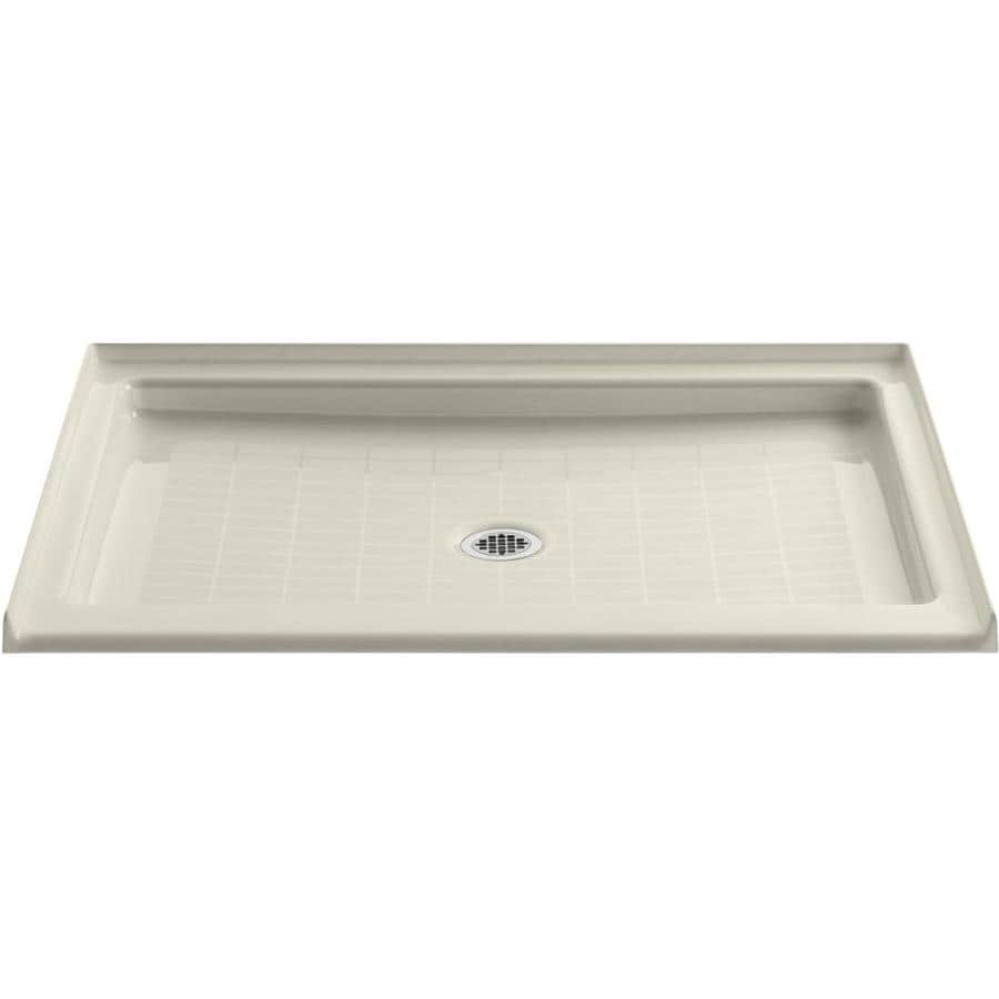 Shop Kohler Purist Almond Cast Iron Shower Base Common