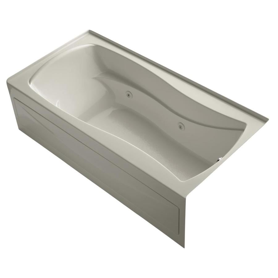 KOHLER Mariposa Sandbar Acrylic Hourglass In Rectangle Whirlpool Tub (Common: 36-in x 72-in; Actual: 20-in x 36-in x 72-in)