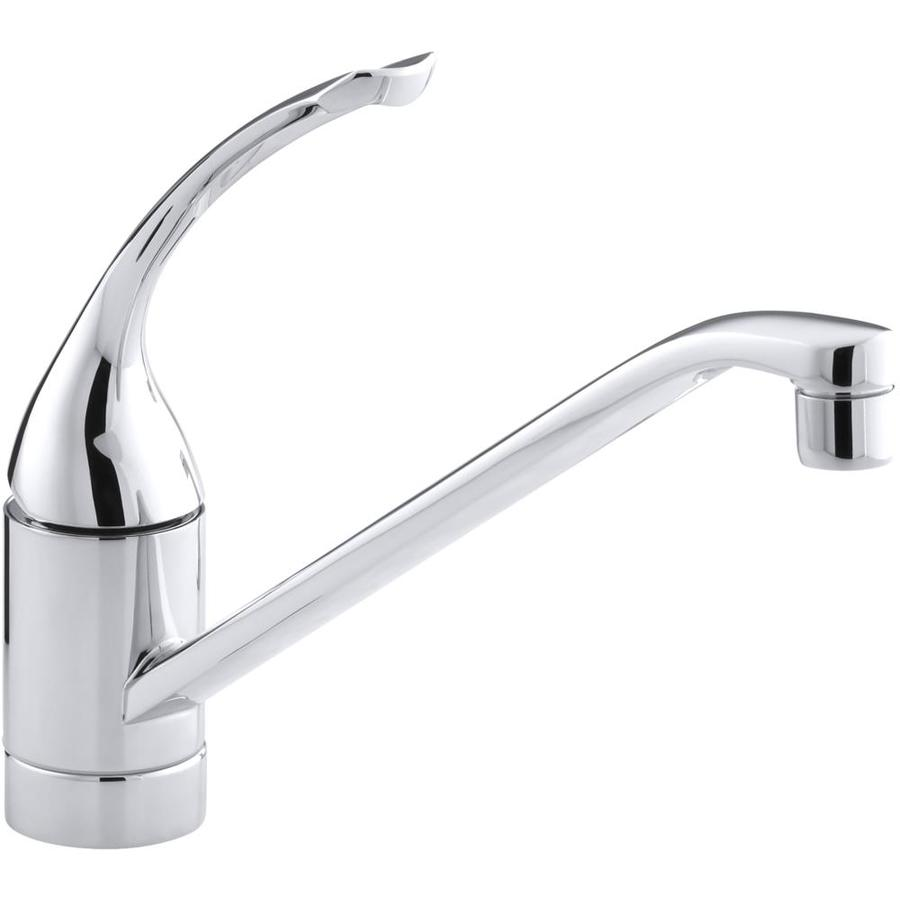 Kitchen Faucets Kohler: KOHLER Coralais Polished Chrome 1-Handle Low-Arc Kitchen