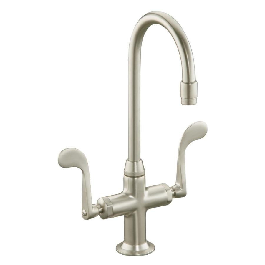 KOHLER Essex Vibrant Brushed Nickel 2-Handle Bar and Prep Faucet
