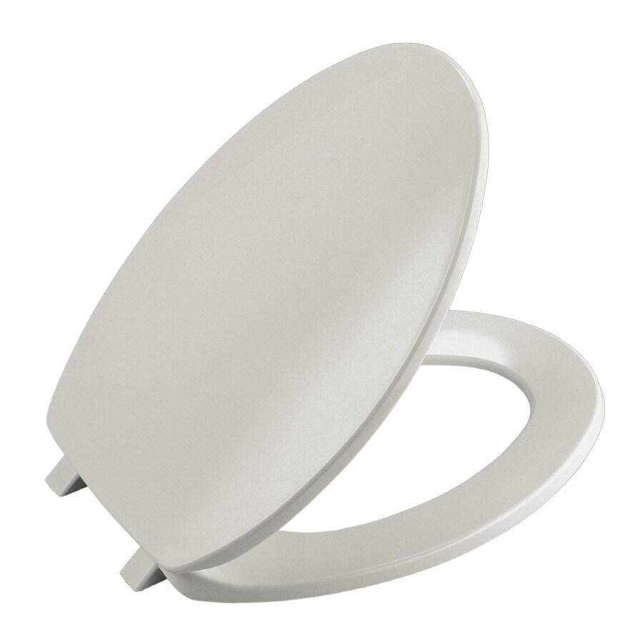 Shop Kohler Brevia Ice Grey Plastic Round Toilet Seat At