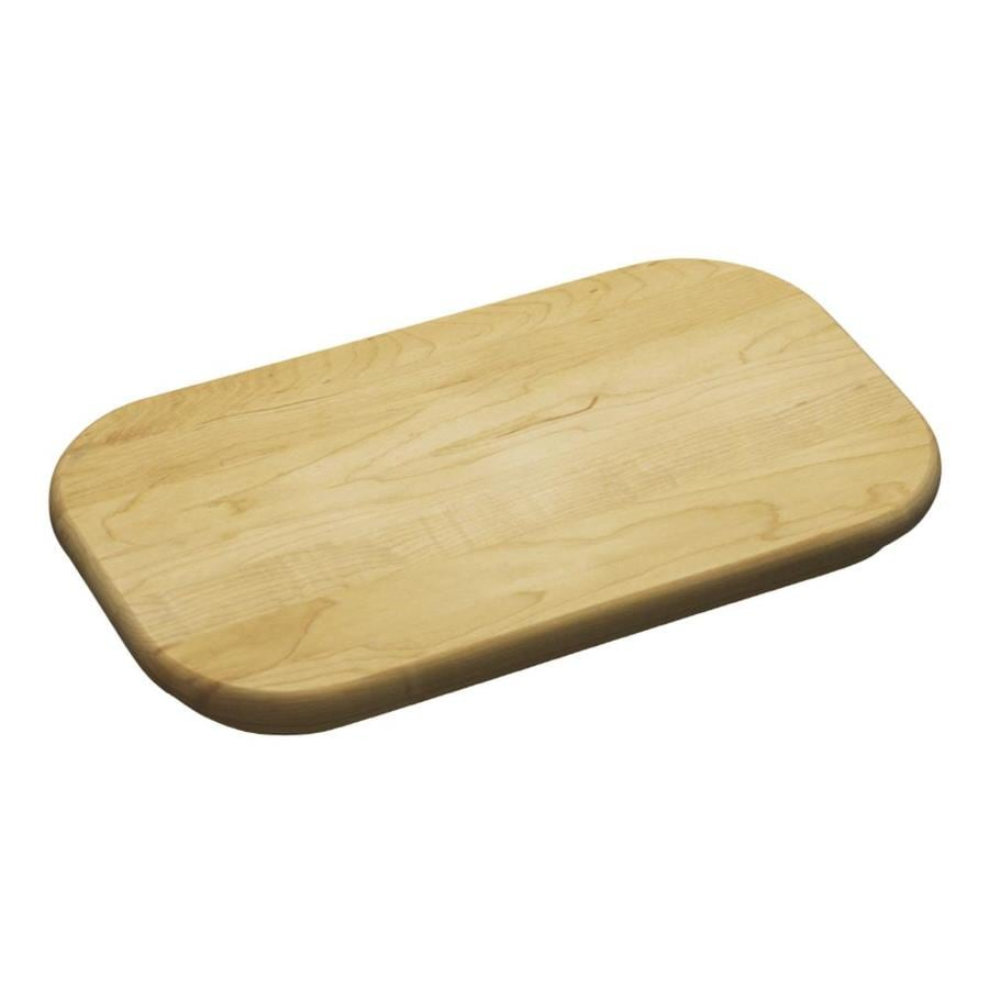 KOHLER 14-7/8-in L x 8-1/2-in W Wood Cutting Board