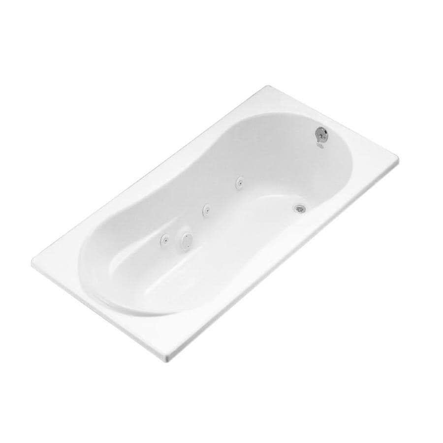 KOHLER Kohler White Acrylic Rectangular Whirlpool Tub (Common: 36-in x 72-in; Actual: 20.125-in x 36-in x 72-in)