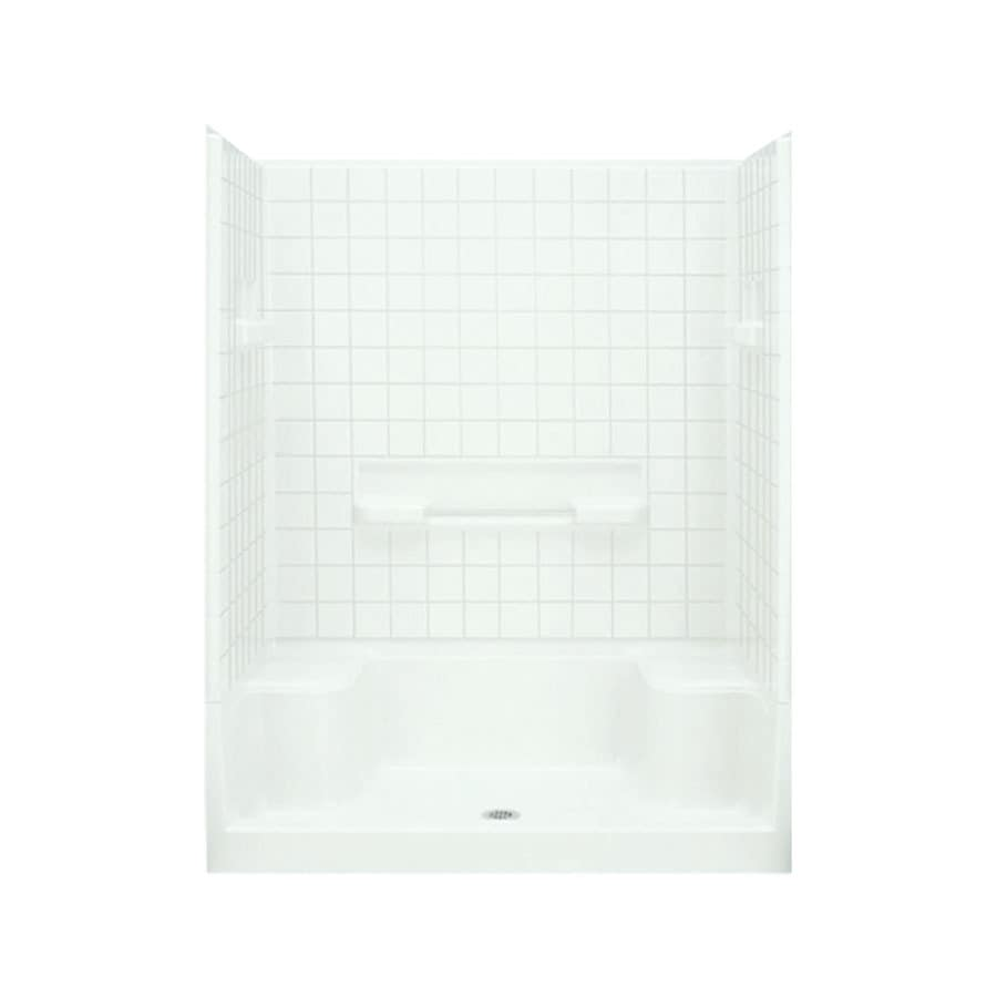 Shop Sterling Advantage White 4-Piece Alcove Shower Kit (Common ...