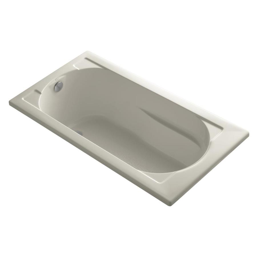 KOHLER Devonshire Sandbar Acrylic Rectangular Drop-in Bathtub with Reversible Drain (Common: 32-in x 60-in; Actual: 20.0000-in x 32.0000-in x 60.0000-in)