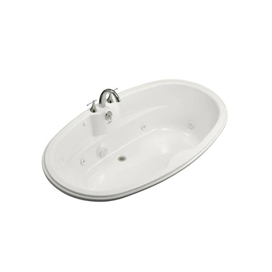KOHLER White Acrylic Oval Whirlpool Tub (Common: 42-in x 72-in; Actual: 19.7500-in x 42.1250-in x 72.0000-in)