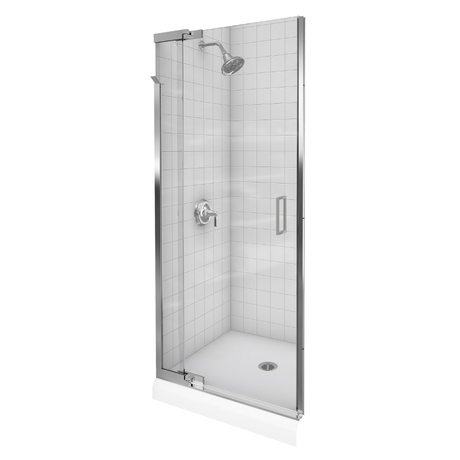 Shop Kohler Purist 44 In To 36 In W Bright Silver Pivot