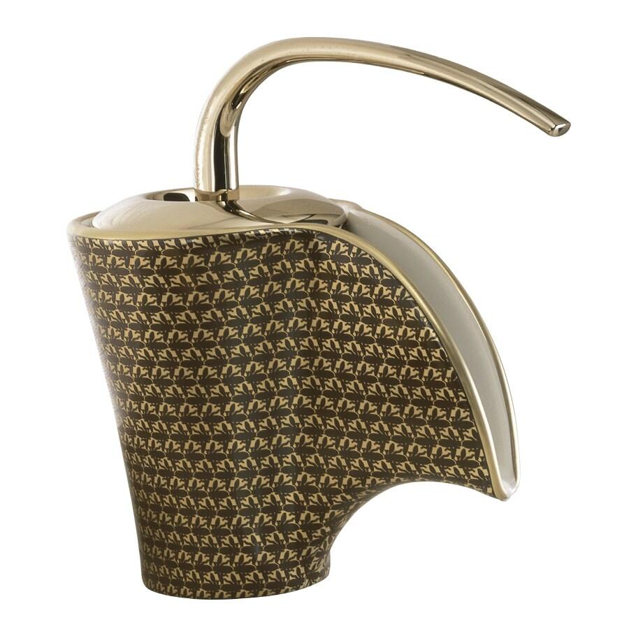 Shop KOHLER Vas Biscuit 1-Handle Single Hole Bathroom Faucet (Drain ...