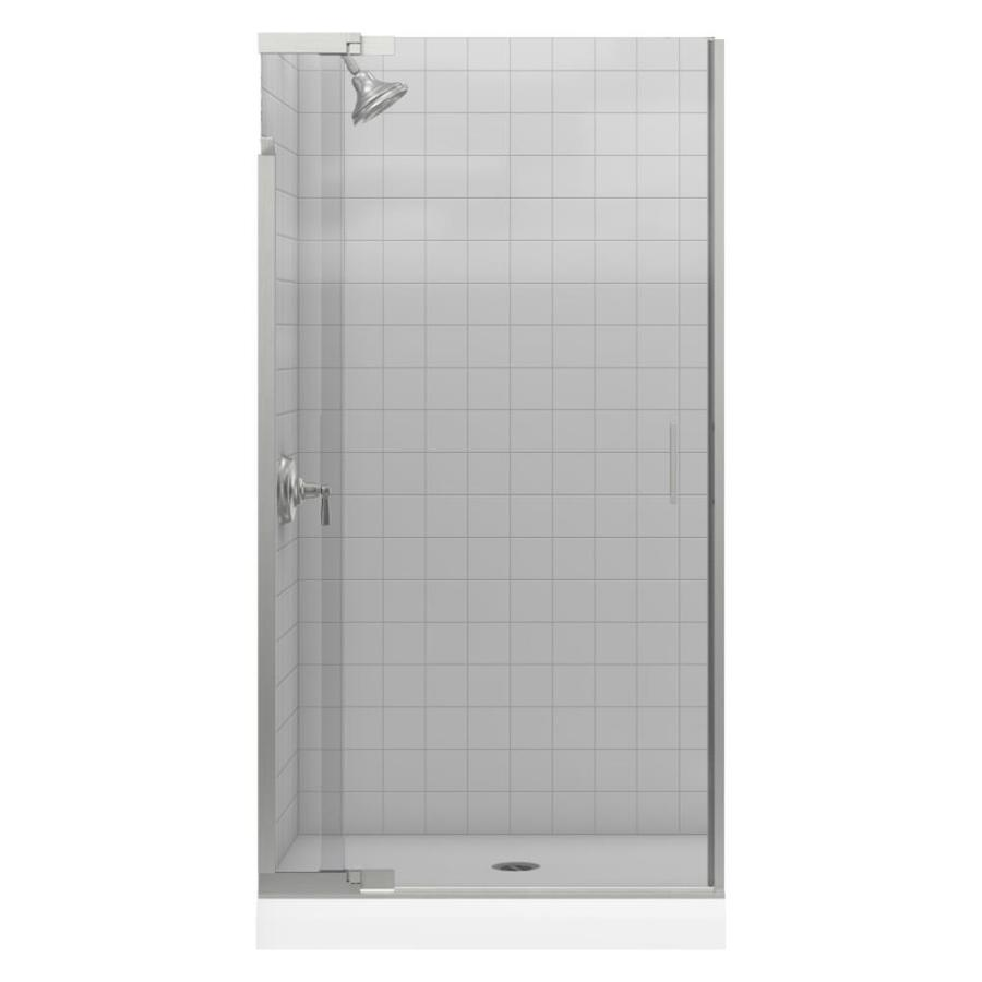 KOHLER Purist 36-in to 39-in Frameless Pivot Shower Door