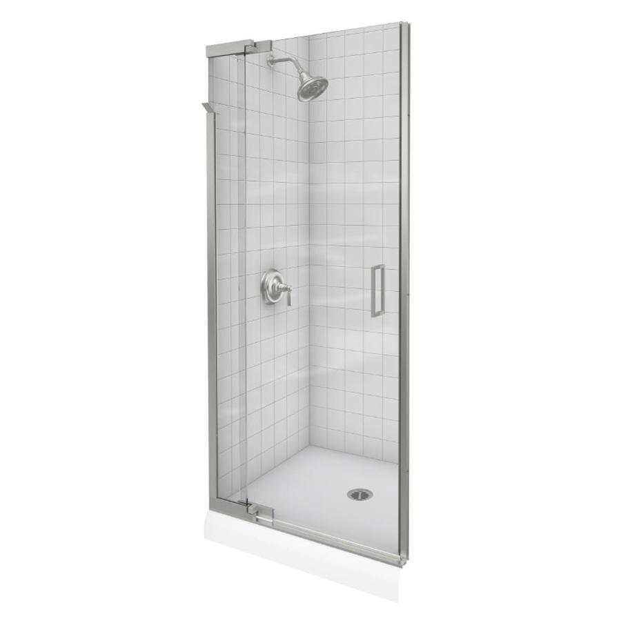 KOHLER Purist 39-in to 42-in Frameless Pivot Shower Door