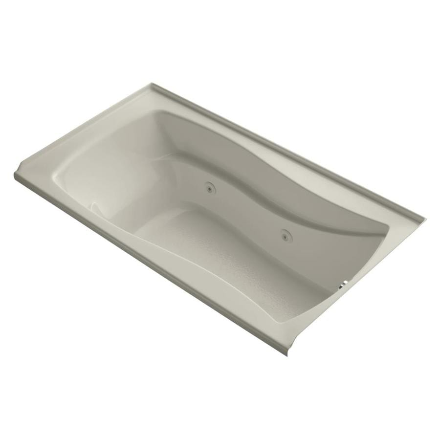 KOHLER Mariposa Sandbar Acrylic Hourglass In Rectangle Whirlpool Tub (Common: 36-in x 66-in; Actual: 20-in x 35.875-in x 66-in)