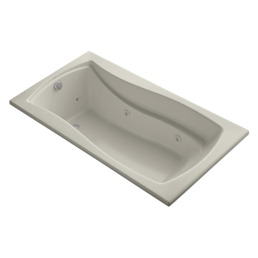 KOHLER Mariposa 66-in Sandbar Acrylic Drop-In Whirlpool Tub with Reversible Drain