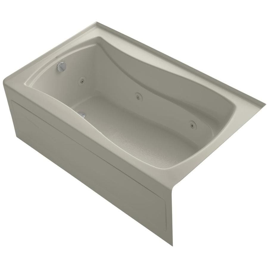 KOHLER Mariposa Sandbar Acrylic Hourglass In Rectangle Whirlpool Tub (Common: 36-in x 60-in; Actual: 20-in x 36-in x 60-in)