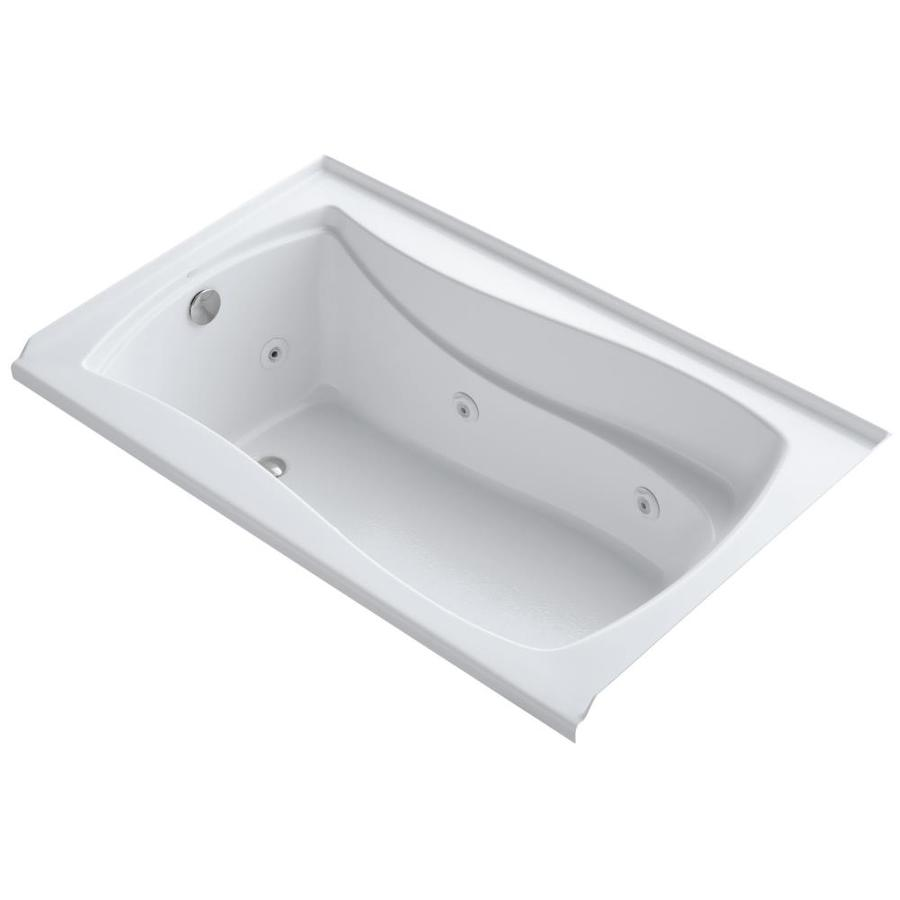 KOHLER Mariposa White Acrylic Hourglass In Rectangle Whirlpool Tub (Common: 36-in x 60-in; Actual: 20-in x 36-in x 60-in)