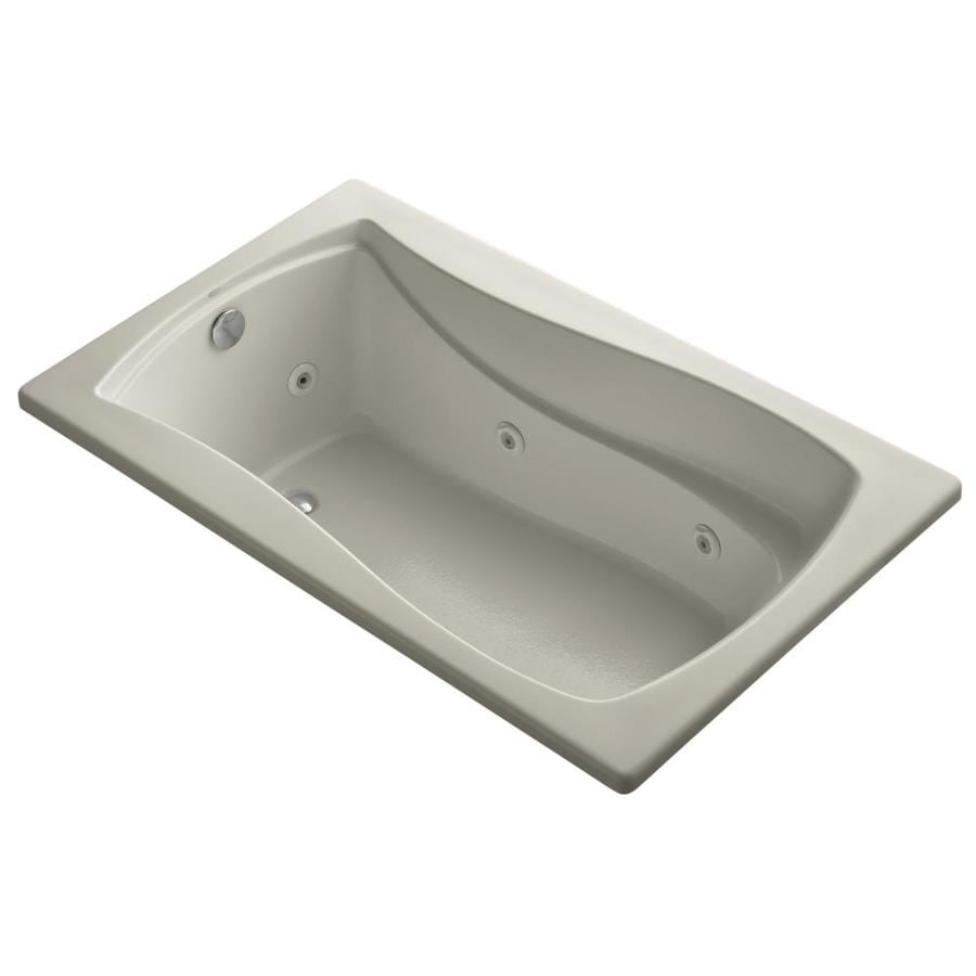 KOHLER Mariposa Sandbar Acrylic Hourglass In Rectangle Whirlpool Tub (Common: 36-in x 60-in; Actual: 20.0000-in x 36.0000-in x 60.0000-in)