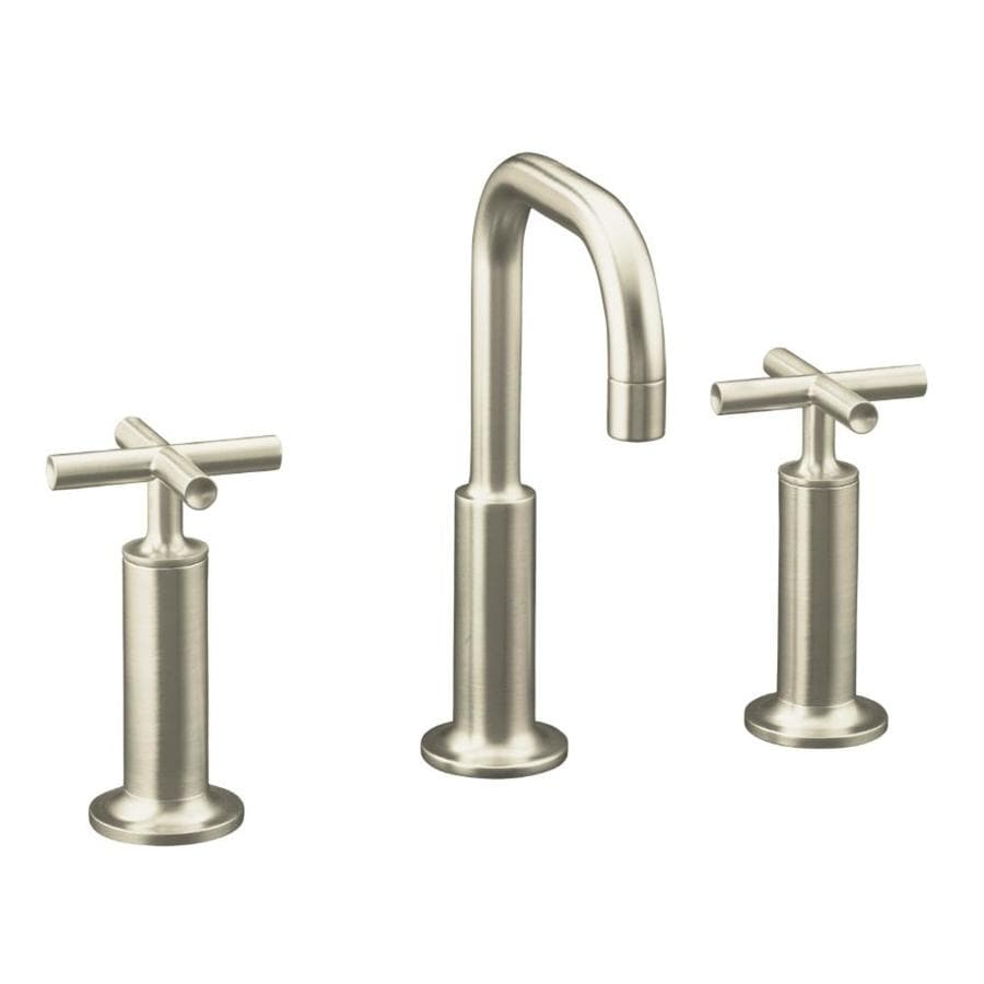 handle widespread watersense bathroom faucet drain included at lowes