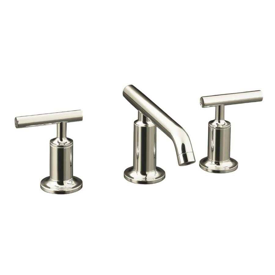 Shop kohler purist vibrant polished nickel 2 handle for Bathroom sink faucets