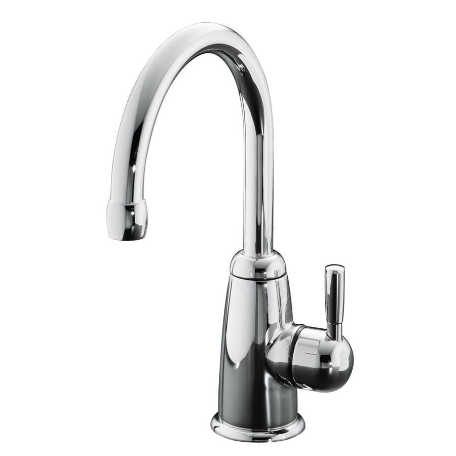 KOHLER Wellspring Polished Chrome 1-Handle-Handle Bar and Prep Faucet