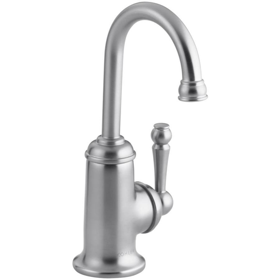 KOHLER Wellspring Brushed Chrome 1-Handle Bar and Prep Faucet