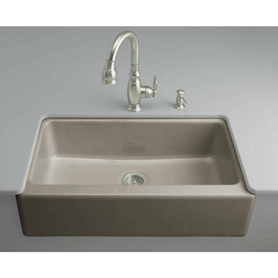 Kohler Undermount Kitchen Sinks Lowes: KOHLER Dickinson Single-Basin Undermount Enameled Cast