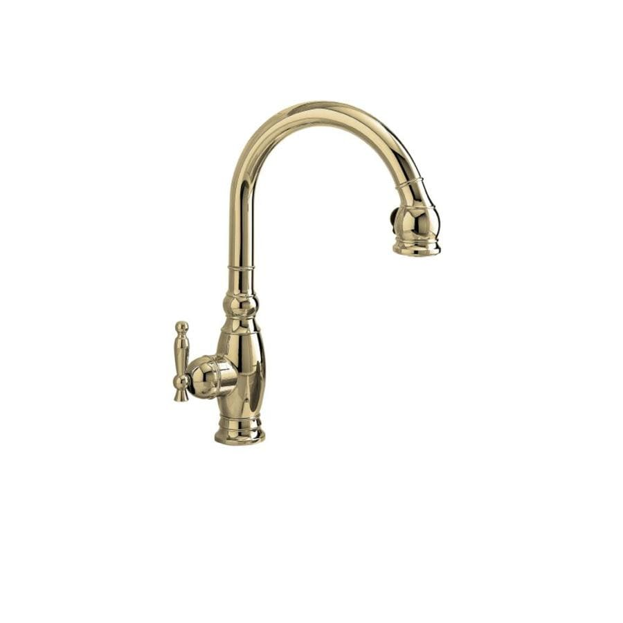 Polished Nickel Kitchen Faucet Shop Kohler Vinnata Vibrant Polished Nickel 1 Handle Pull Down