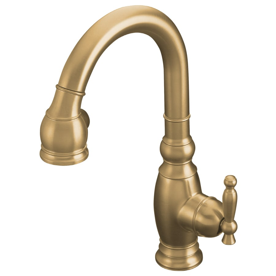 KOHLER Vinnata Vibrant Brushed Bronze 1-Handle Deck Mount Pull-down Kitchen Faucet