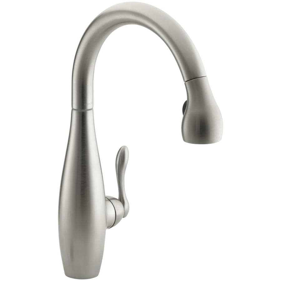 KOHLER Clairette Vibrant Brushed Nickel 1-Handle Pull-Down Kitchen Faucet